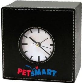 Faux Leather Alarm Clock (Square)
