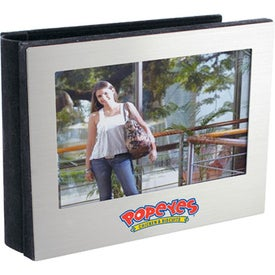 Silver Photo Album With Felt Lining Printed with Your Logo