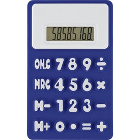 Branded Flexible 'Press-Me' Colorful Calculator