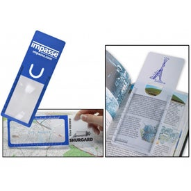 Flexible Bookmark Magnifier Branded with Your Logo