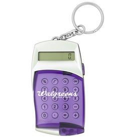 Flip Cover Calculator Keychain Branded with Your Logo