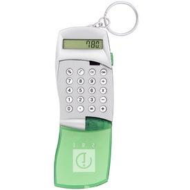 Branded Flip Cover Calculator Keychain