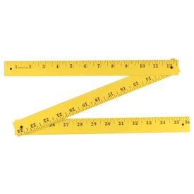Fluorescent Finish Folding Yardstick for Promotion