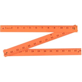 Fluorescent Finish Folding Yardstick Printed with Your Logo