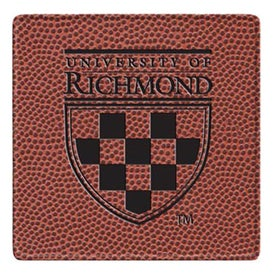 Personalized Football Square Coaster