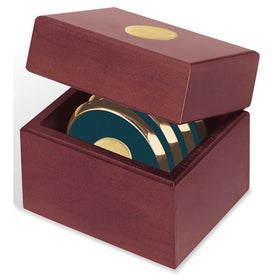 Four Coasters with Solid Cherry Chest for Promotion