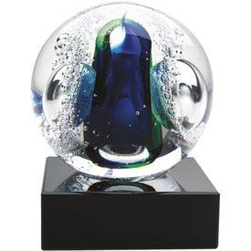 Personalized Glass Galaxy Award