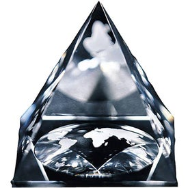 Global Pyramid Paperweight (Medium)