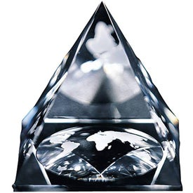 Global Pyramid Paperweight (Large)