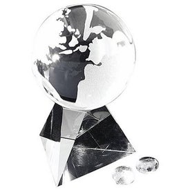Globe with Pyramid Base Award (Medium)