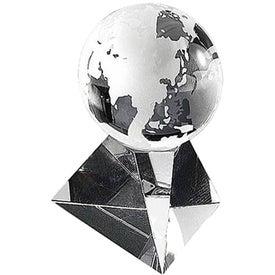 Globe with Pyramid Base Award (Small)