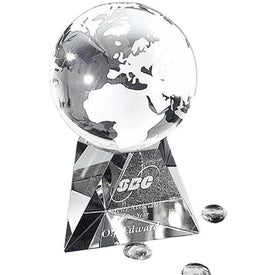 Globe with Pyramid Base Award (Large)