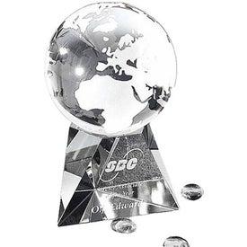 Globe with Pyramid Base Award (Large)