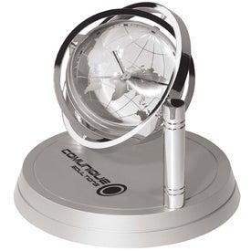 Logo Gyroscopic Desk Clock