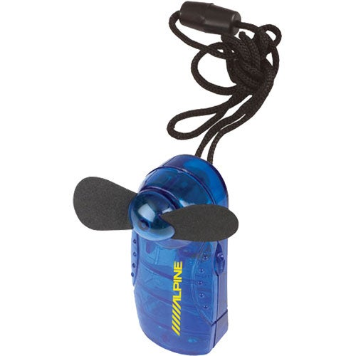 Translucent Blue Handy Fan with Rope and Breakaway