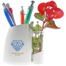 Company Happy Flower Pen Caddy