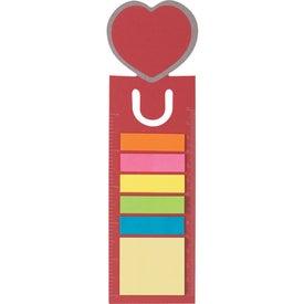Heart Shape Bookmark for Marketing