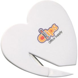 Heart Letter Opener with Your Logo