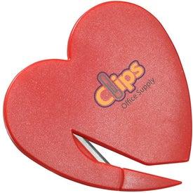 Logo Heart Letter Opener