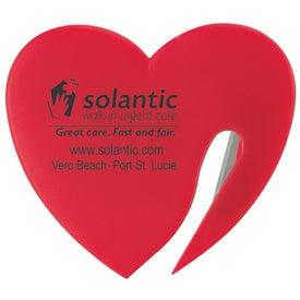 Plastic Heart Letter Opener