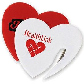 Plastic Heart Shaped Letter Opener