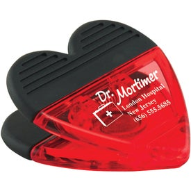 Custom Heart Magnet Clip