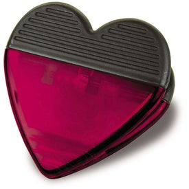 Monogrammed Plastic Heart Magnetic Clip