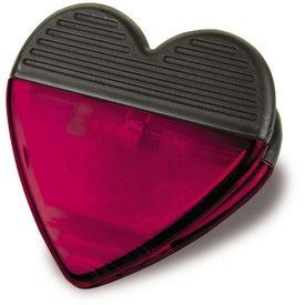 Monogrammed Plastic Heart Magnetic Clip