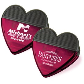 Plastic Heart Magnetic Clip for Advertising
