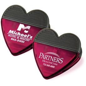 Plastic Heart Magnetic Clip for Advertising