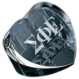Customizable Heart Paperweight