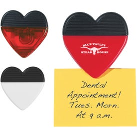 Heart Shape Clip Printed with Your Logo