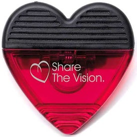 Heart Translucent Magnetic Power Clips