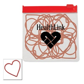 Heart Rubber Bands in a Clear Pouch with Color Trim