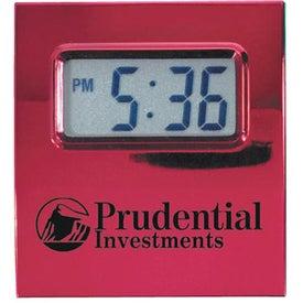 Heavy Metal Contempo Alarm Clock for Your Company