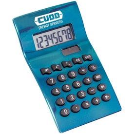 Monogrammed Heavy Metal Contempo Desktop Calculator