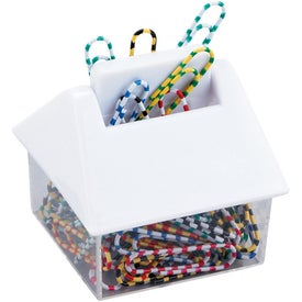 House Clip Dispenser Imprinted with Your Logo