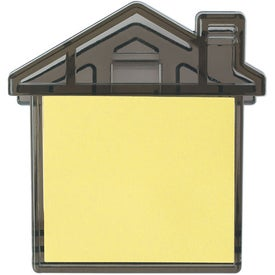 House Clip With Sticky Notes Imprinted with Your Logo