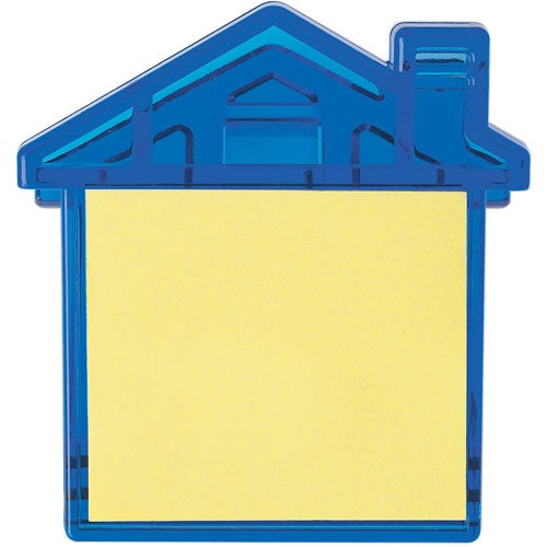 Translucent Blue House Clip With Sticky Notes