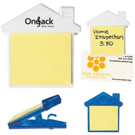 "House Clip With Sticky Notes (3"" x 3"")"