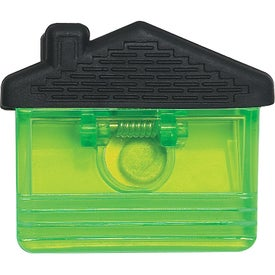 Imprinted House Shape Clip