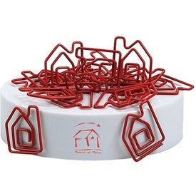 Personalized House Clipsters Red with White Base