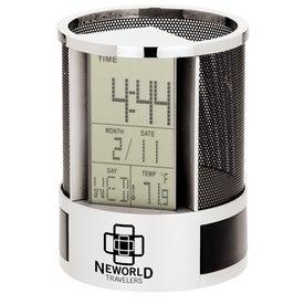 Branded Impressa Clock Organizer