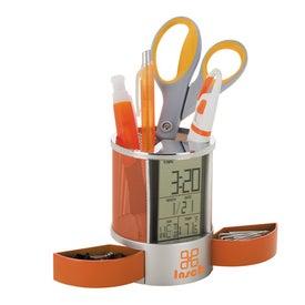 Personalized Impressa Clock Organizer