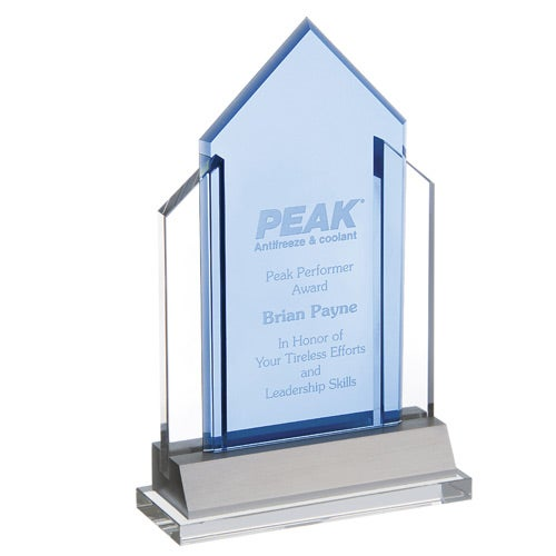 Blue / Clear Indigo Peak Award