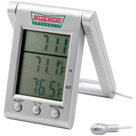 Indoor/Outdoor Thermo Clock for Customization