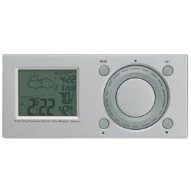 Monogrammed Inspire Solar World Time Clock