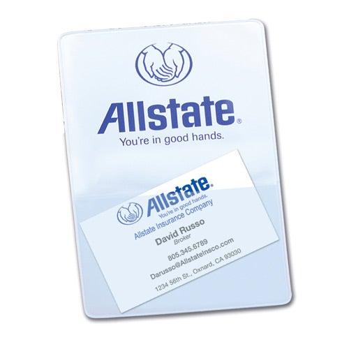 white insurance card holder double pocket for your organization - Insurance Card Holder