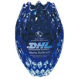 Personalized Italian Blue Crystal Vase