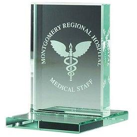 "Jade Award with Jade Base (3"" x 4 3/8"", Vertical)"
